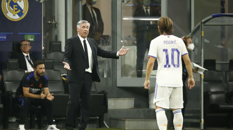 Ancelotti logró un gran resultado frente al Inter a domicilio. (Efe)