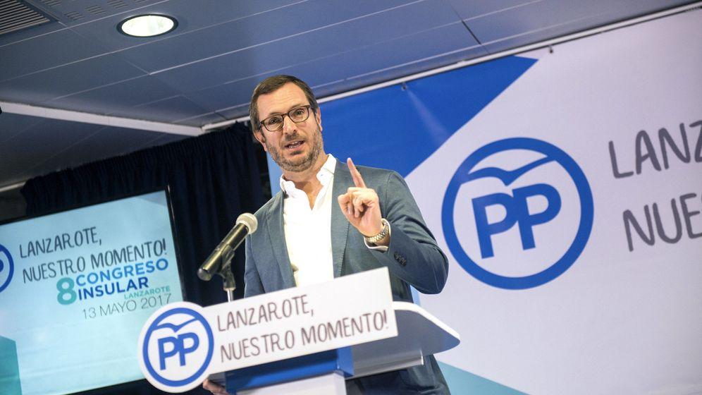 Foto: Javier Maroto, durante una reciente intervención en un acto del PP. (EFE)