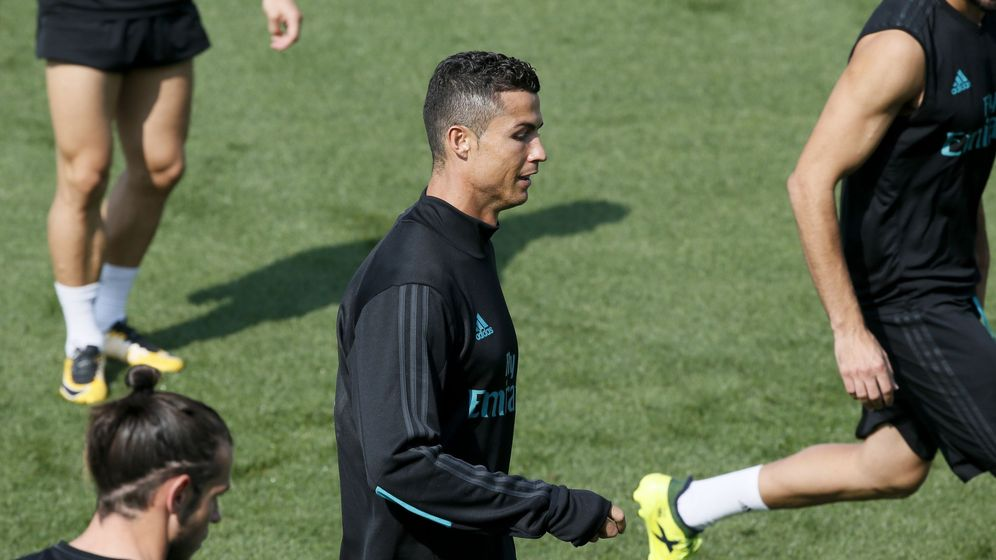 Foto: Cristiano Ronaldo, en un entrenamiento. (EFE)
