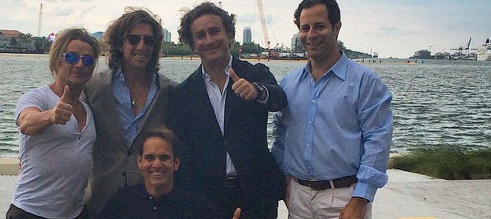 Foto: Nacho Cano, Colate, Alejandro Agag, Rafael Chelala y Toñejo en la presentación de la Fórmula E en Miami (Instagram)
