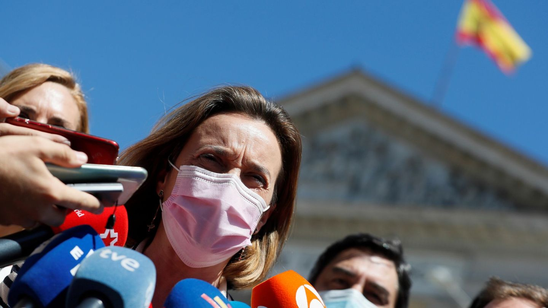 La portavoz del PP en el Congreso, Cuca Gamarra. (EFE)