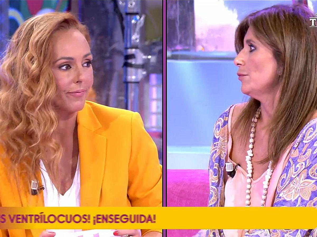 Foto: Rocío Carrasco y Gema López, en 'Sálvame'. (Telecinco)