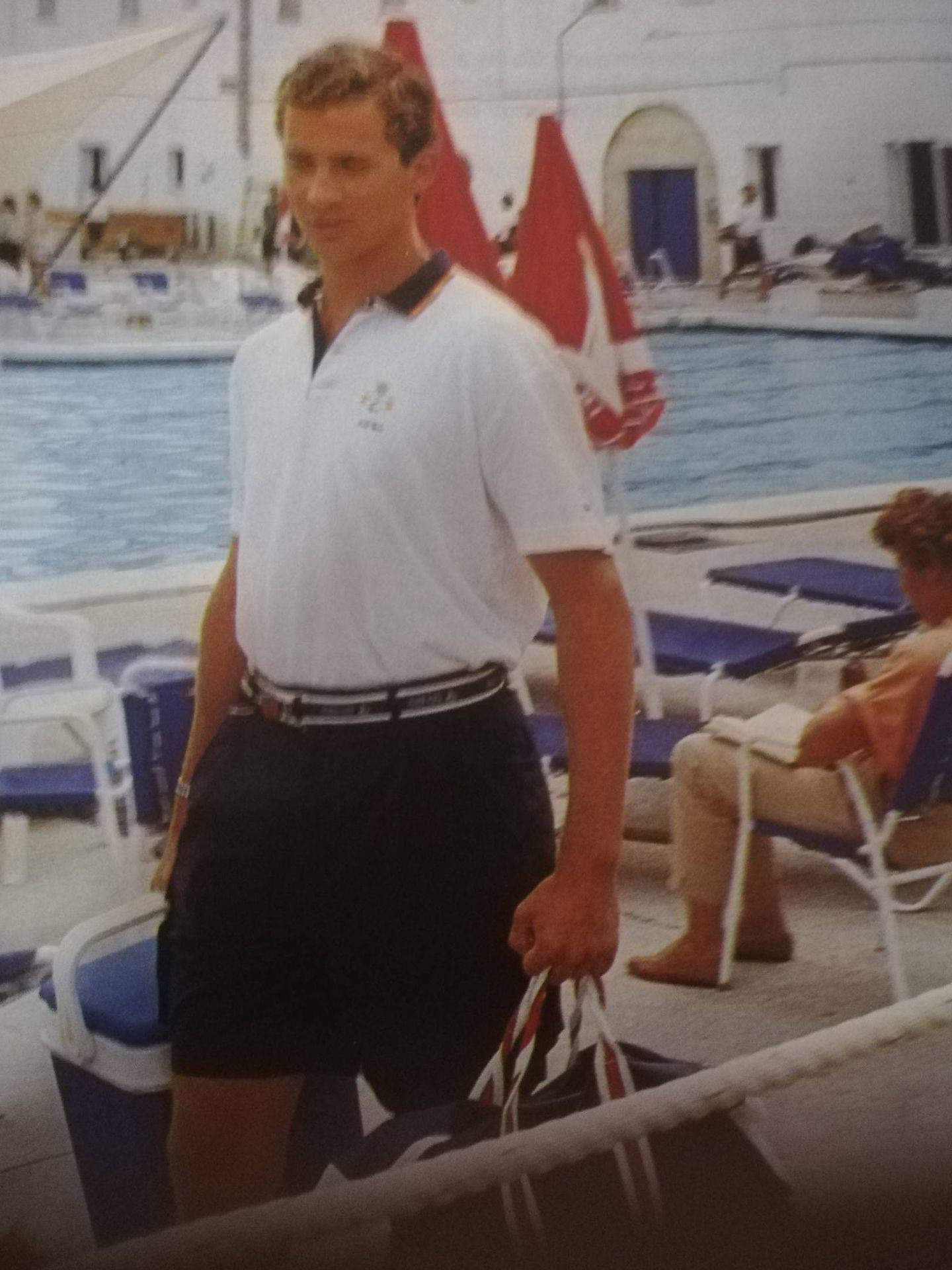 El príncipe Felipe en Mallorca. (Tiempo)