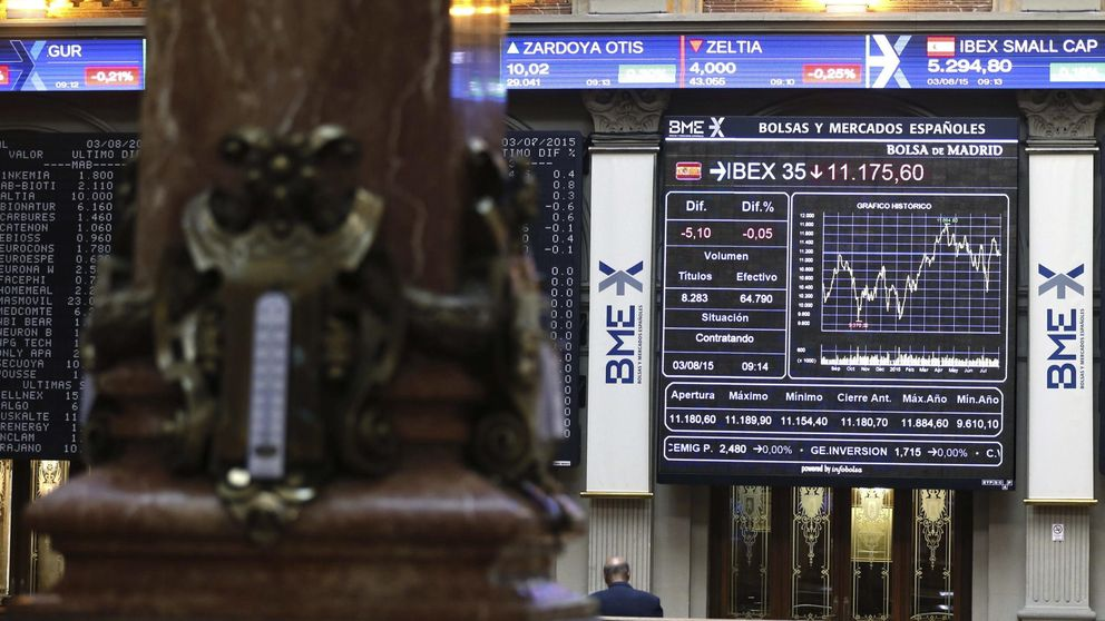El Ibex se deja el 5% en su mayor caída desde agosto de 2012 hasta los 9.756,6