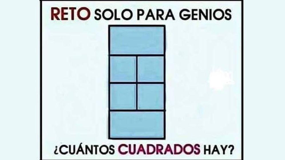 Foto: El reto que se ha viralizado en Facebook: ¿cuántos cuadrados hay? (Foto: Facebook)