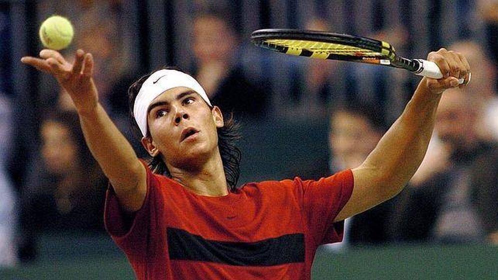Foto: Nadal, en 2004, el día en que debutó en la Copa Davis.