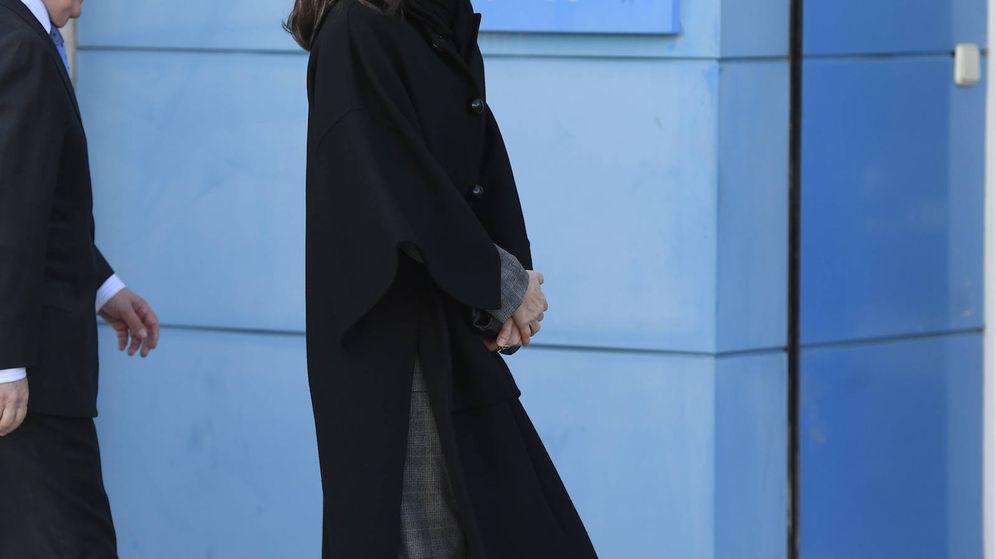 Foto: La Reina, a su llegada a la sede de Unicef. (Limited Pictures)