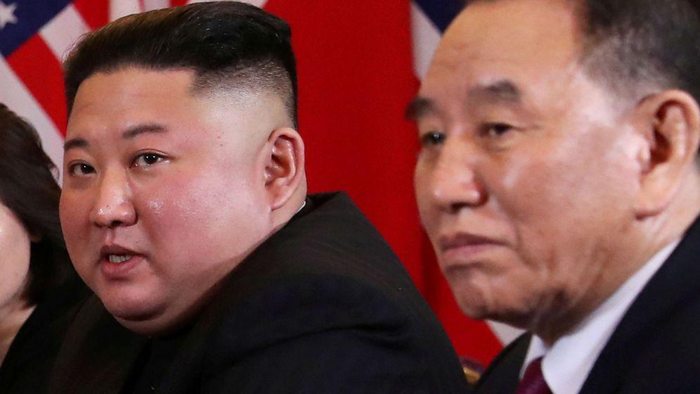 Foto: Imagen de archivo de Kim Jong Un y Kim Yong Chol. (Reuters)