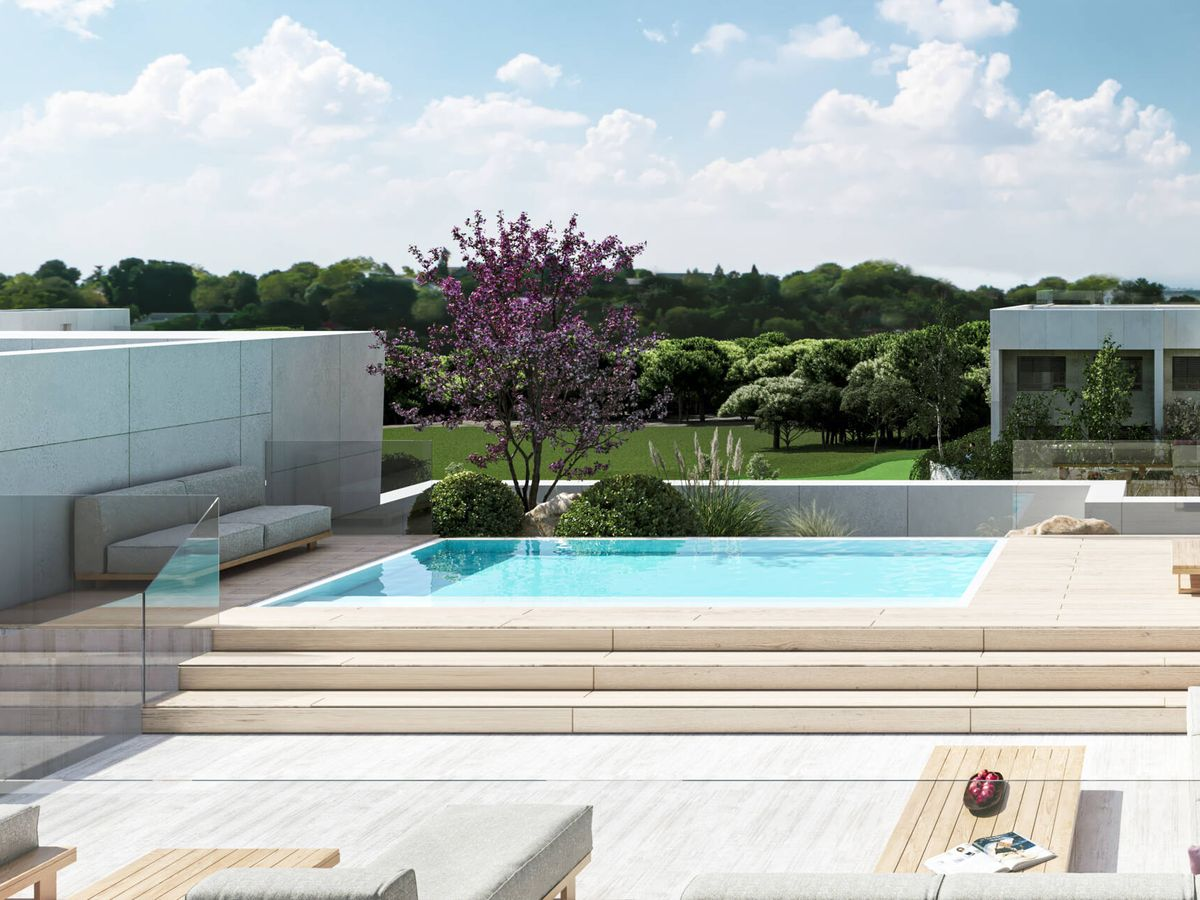 Foto: Infografía de la piscina de una de las villas.
