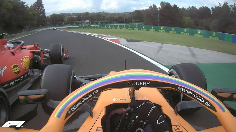 Sainz tuvo que esperar hasta el final de carrera para adelantar a Leclerc. (FORMULA 1)