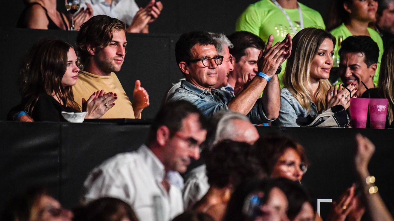 La familia, durante el concierto de Il Divo.  (Cordon Press)