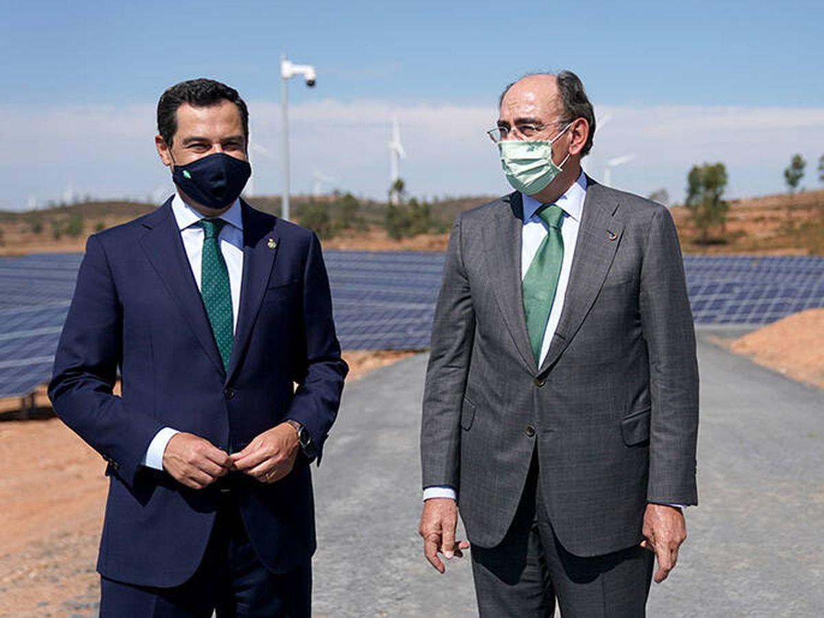 Foto: Juanma Moreno y José Ignacio Sánchez Galán.