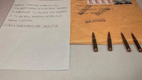 """La segunda carta a Iglesias tenía una bala idéntica a las 4 primeras: """"Por miserables 15.000€"""""""