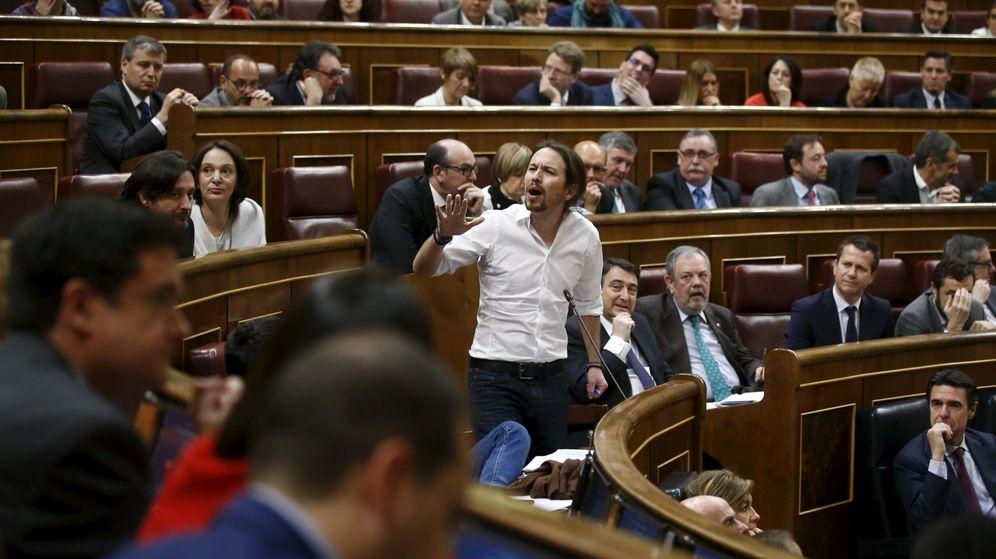 Foto: El líder de Podemos, Pablo Iglesias, interviene durante el debate de la sesión de investidura. (Reuters)