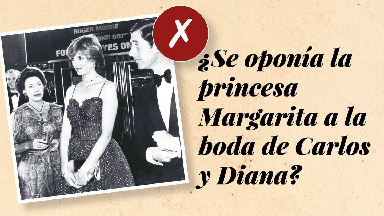 La princesa Margarita, junto a Carlos y Diana. (Cordon Press)