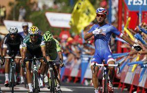 Valverde se pone líder en una etapa que ganó el galo Bouhanni al esprint