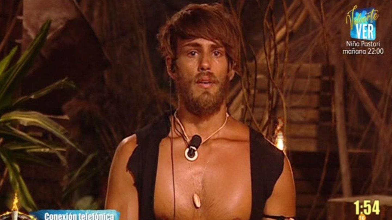 Sergio, en la última gala de 'Supervivientes'. (Telecinco)