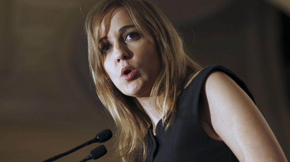 Foto: Tania Sánchez, durante una conferencia en el Hotel Ritz el pasado mes de febrero. (EFE)