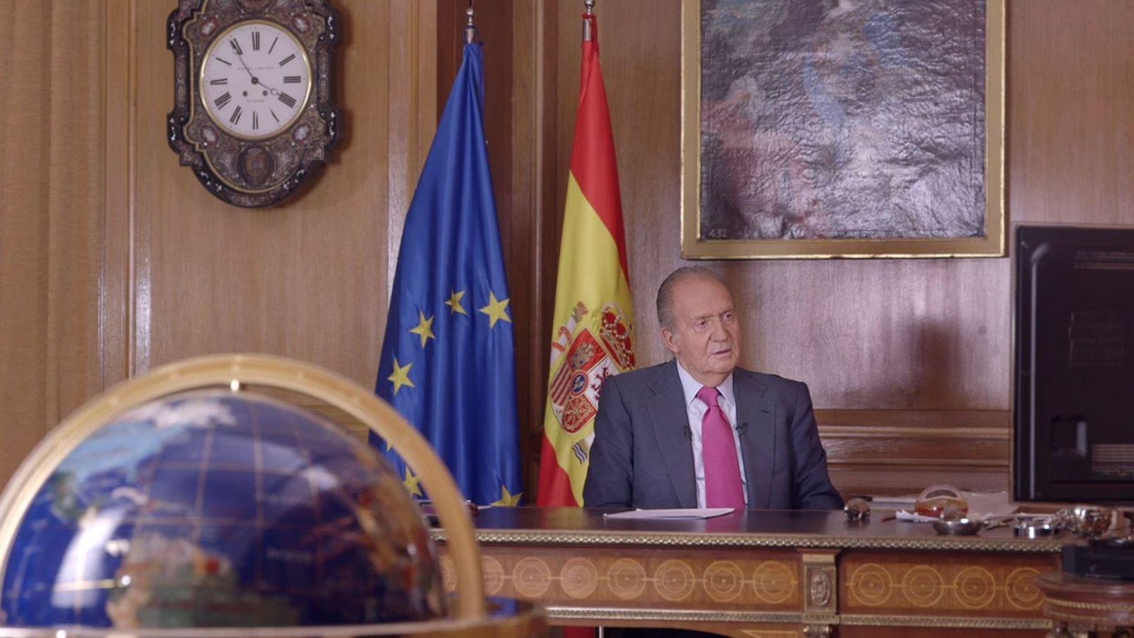 Foto: El Rey Juan Carlos, durante la entrevista concedida a la televisión pública francesa