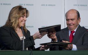 Susana Díaz cambia de estrategia y hace caja con los jefes del IBEX 35