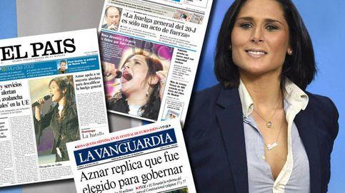 Así acaparaba Rosa López, hace 15 años, las portadas de los periódicos tras 'Eurovisión'