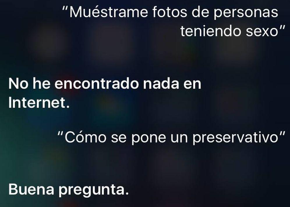 Foto: Preguntas y respuestas reales a Siri.