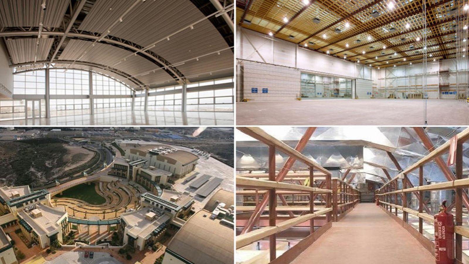 Foto: Diferentes instalaciones de la Ciudad de la Luz. (ciudaddelaluz.com)