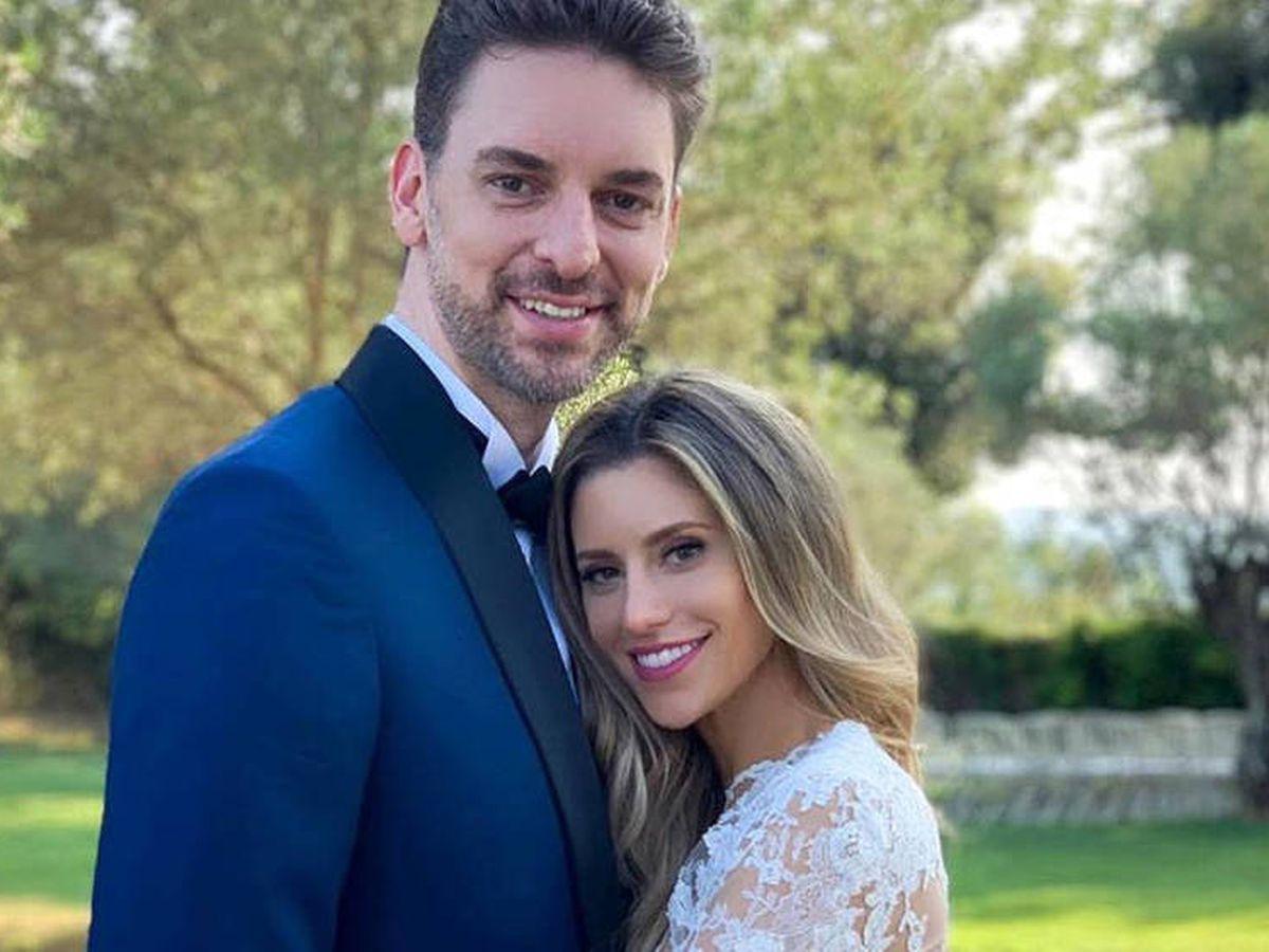 Foto:  Paul y Catherine, en su boda en Girona. (Instagram @paugasol)