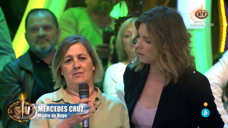 Mercedes, madre de Hugo, en 'Supervivientes 2018'. (Telecinco)
