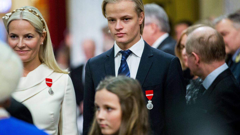 Marius Borg y Mette-Marit en una imagen de archivo. (EFE)