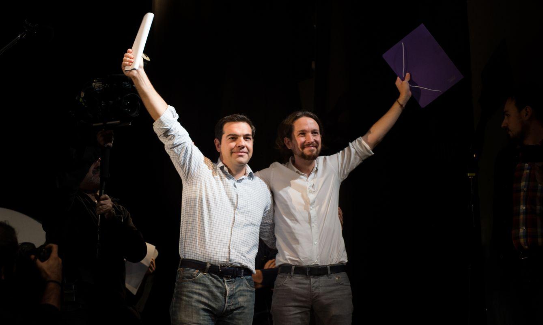 Alexis Tsipras y Pablo Iglesias (EC)