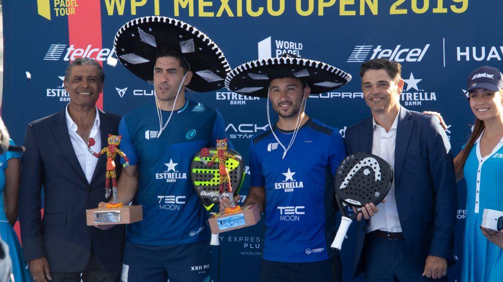 Foto: Maxi Sánchez y Sanyio Gutiérrez ganaron el primer torneo de la historia del World Padel Tour en México. (Foto: WPT)