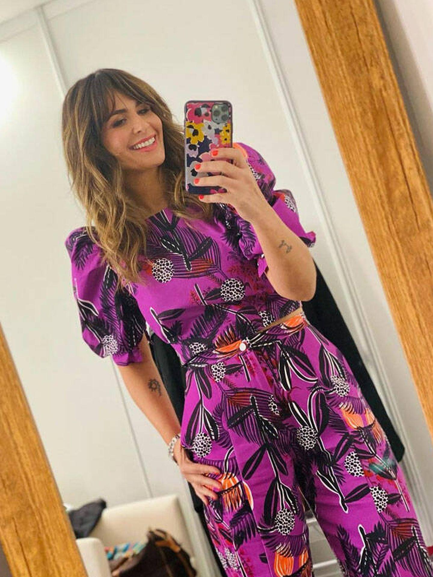 Nuria Roca y su foto en el espejo. (Instagram @nuriarocagranell)