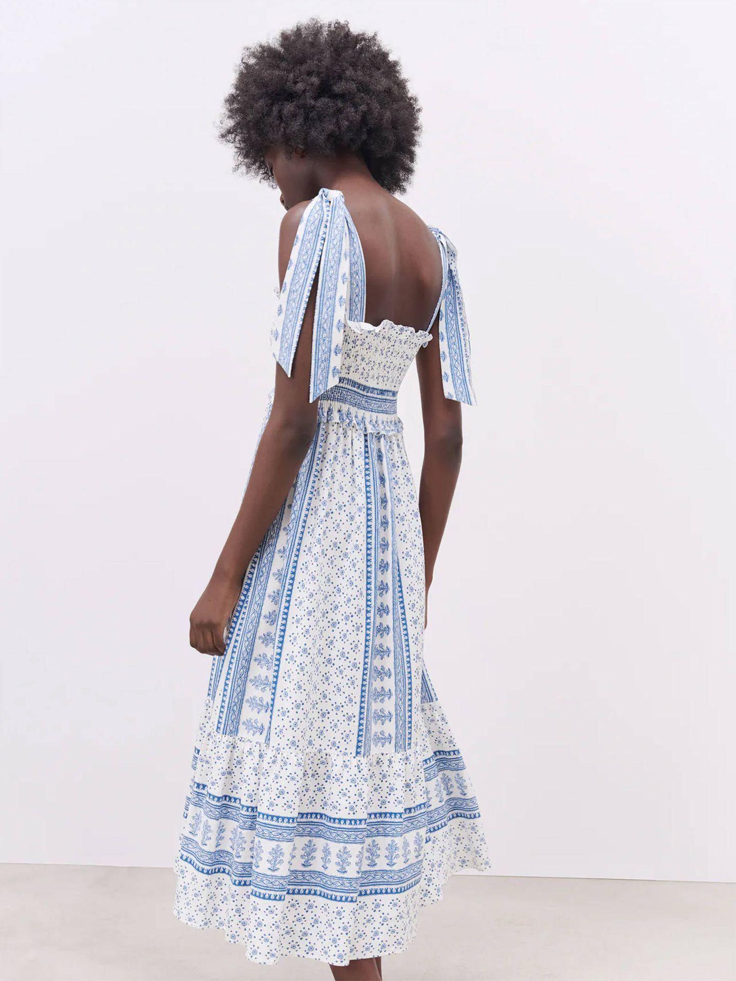 Vestido de Zara. (Cortesía)
