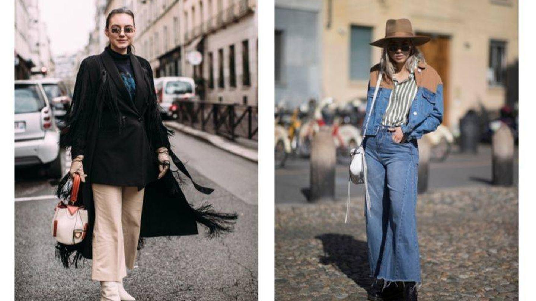 De tejidos más formales al denim, los culottes se adaptan a todo. (Imaxtree)