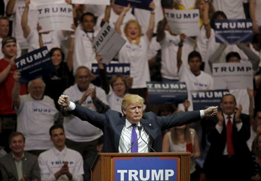 Foto: El candidato a la nominación republicana Donald Trump durante un mitin de campaña en Las Vegas, el 22 de febrero de 2016 (Reuters).