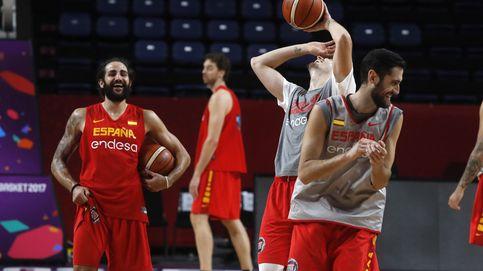 Entrenamiento selección española de Baloncesto