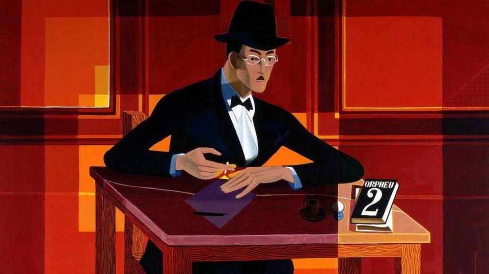 Foto: Retrato de Fernando Pessoa pintado por José de Almada Negreiros