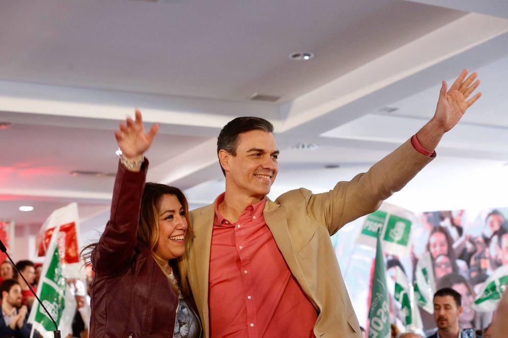 Foto: Pedro Sánchez y Susana Díaz, este 30 de marzo en el recinto ferial de Jaén. (Inma Mesa   PSOE)