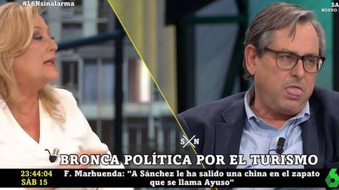 Marhuenda, desesperado con Elisa Beni por los ataques a Ayuso