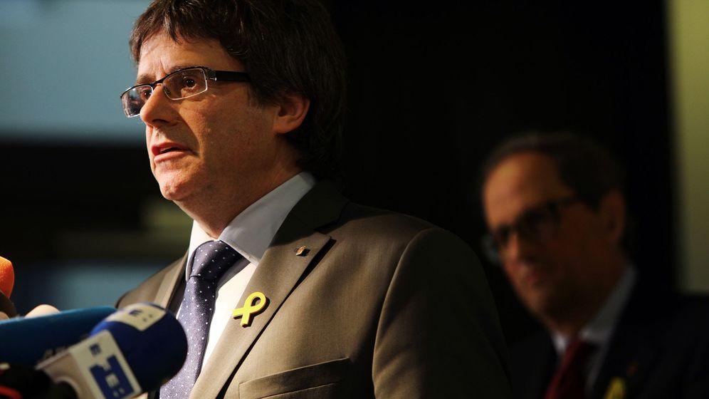 Foto: Puigdemont, en una de sus últimas declaraciones. (EFE)