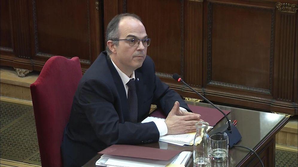 Foto: El exconseller Jordi Turull declarando ante el juez en la segunda semana del juicio por el procés catalán (Efe)