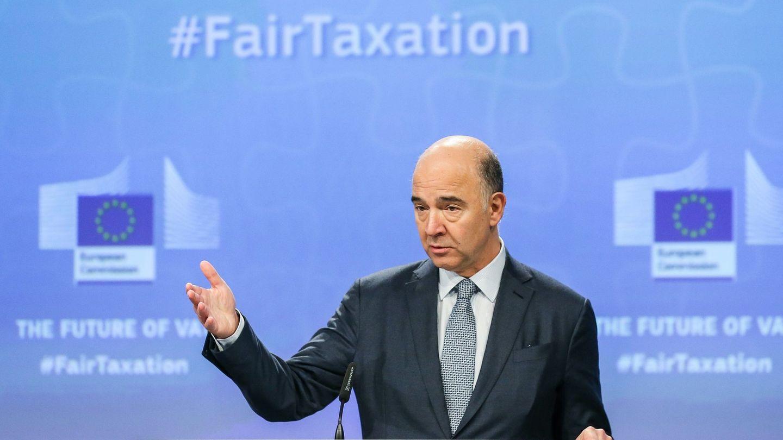 Moscovici en rueda de prensa. (EFE)