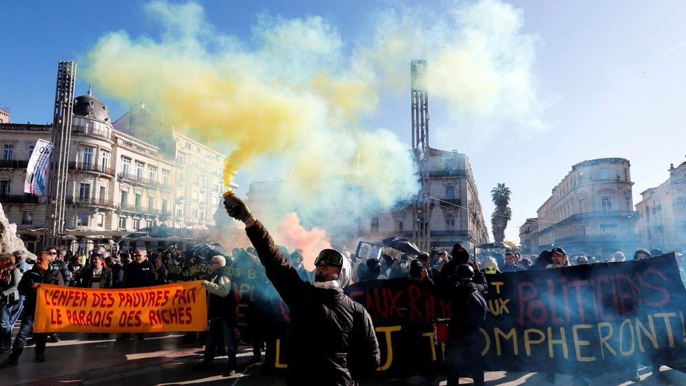 Foto: Protesta d e los chalecos amarillos en montpellier
