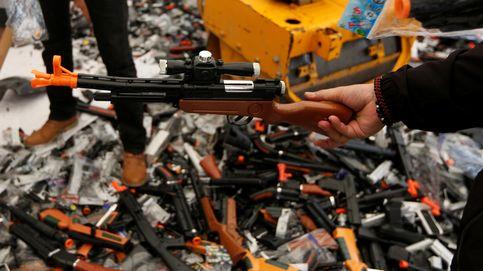 Destrucción de armas ilegales de juguete