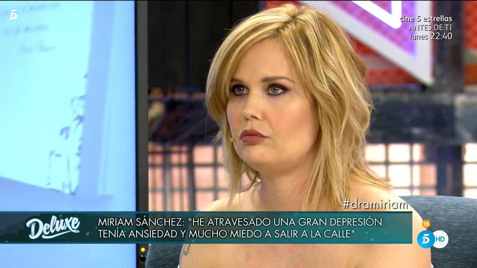 Foto: Miriam Sánchez, en 'Sábado Deluxe'. (Telecinco)