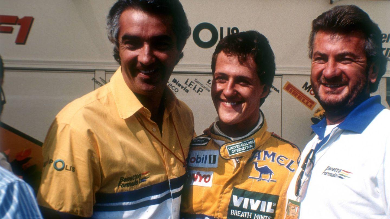 Briatore, junto a Shucmacher en 1993. (Imago)
