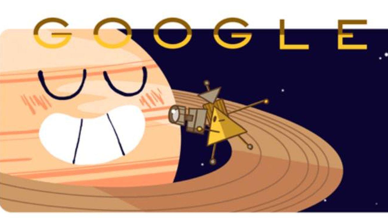 La sonda Cassini de la NASA que se estrellará contra Saturno decora Google