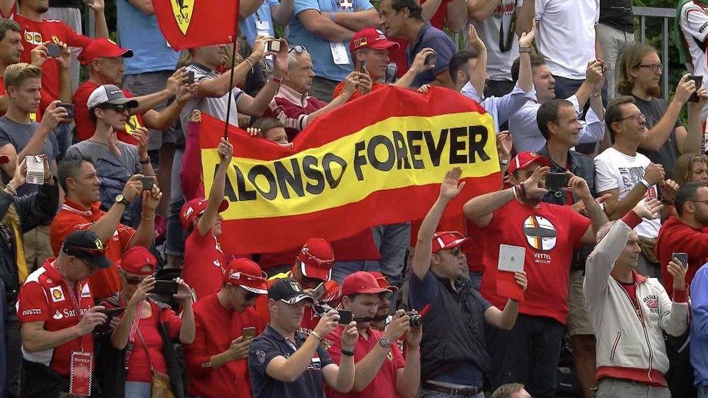 Resultado de imagen de Fernando Alonso Ferrari Gran Premio de Italia tifosi