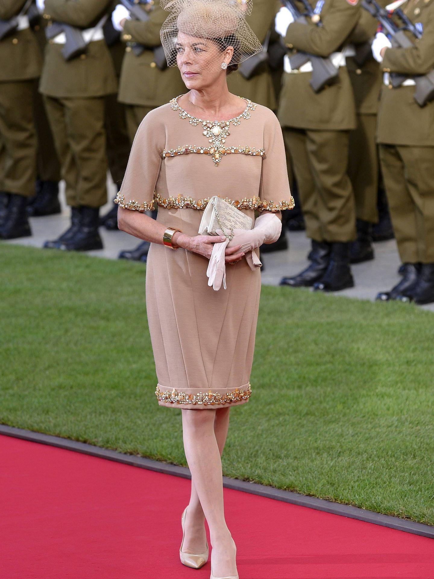 La princesa Carolina, durante la gran boda real de los príncipes de Luxemburgo. (EFE)